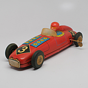 Vintage Tin Wind-Up Toy Racer #3