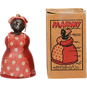 Vintage Jaymar Wood Mammy Toy with Box Black Memorabilia