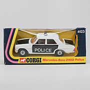 Corgi Mercedes-Benz 240D Police Car 4123 from 1975 Mint in Box