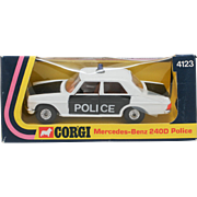 Corgi Mercedes-Benz 240D Police Car 4123 from 1975 Mint in Box