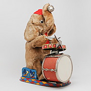 ALPS Mambo the Jolly Drumming Elephant Battery Operated