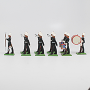 Britains New Metal Royal Marines Drums and Bugles Set 8402