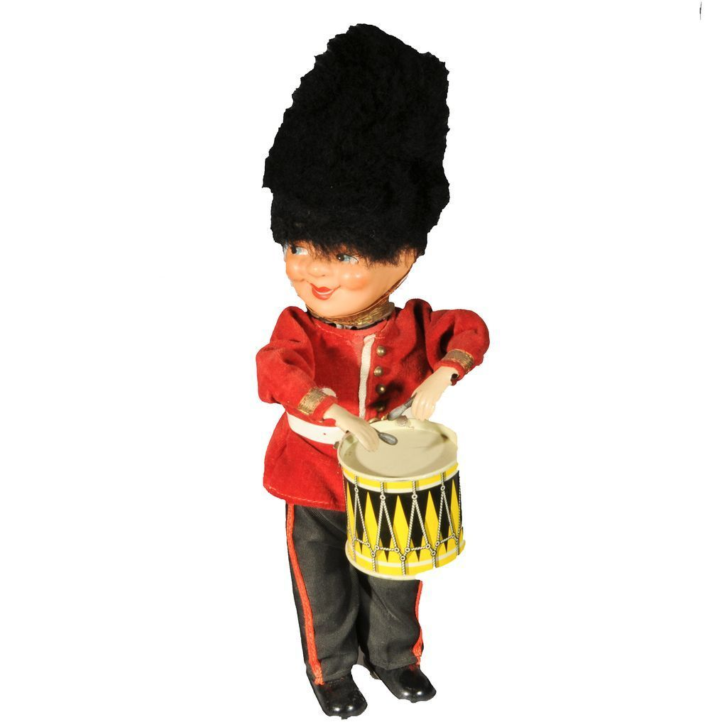 Vintage Kunstlerschutz  Wind-up Drummer Western Germany