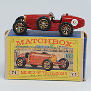 Matchbox Models of Yesteryear Y 6-2 S, Supercharged Bugatti Type 35, Red