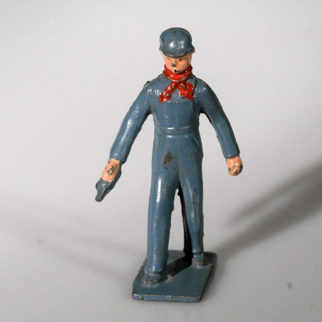 Lincoln Logs Railroad Engineer Lead Figure