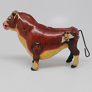 Marx Ferdinand the Bull Tin Wind Up Toy