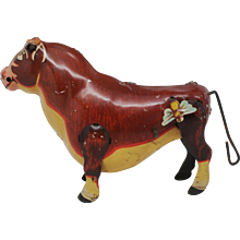 Marx Ferdinand the Bull Tin Wind Up Toy - Red Tag Sale Item