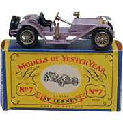 Lesney Matchbox Yesteryear Y7-2 Mercer 1913 Raceabout