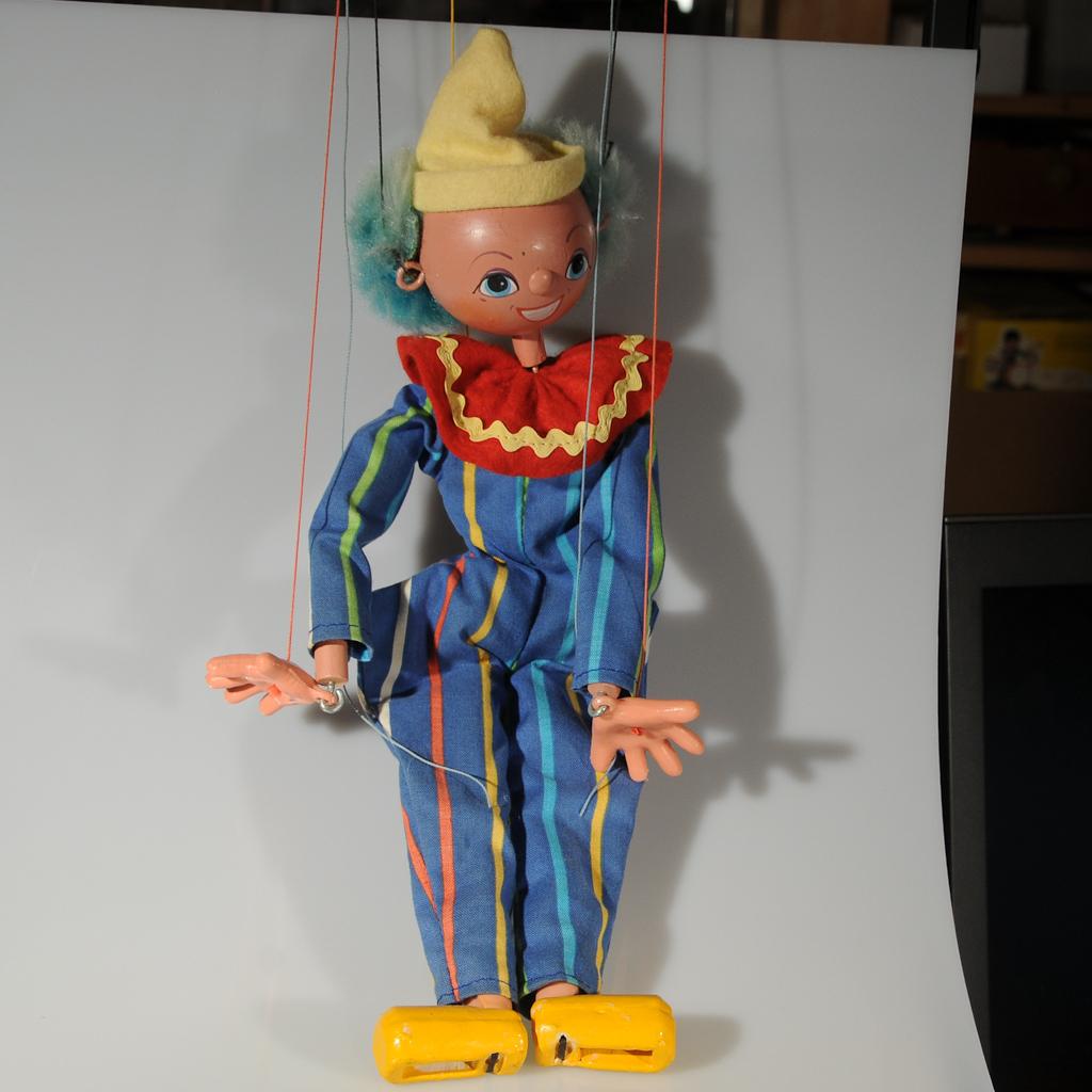 Vintage Pelham Clown Marionette Puppet