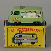 Lesney Matchbox Milk bottle float truck MIB 1961