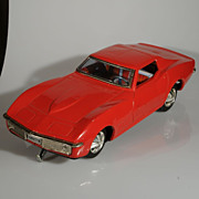 Taiyo Corvette Bump-n-go battery operated tin toy car