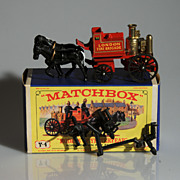 Lesney Matchbox Yesteryear Y4 Horse Drawn Fire Engine MIB
