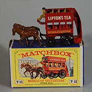 Lesney Matchbox Yesteryear Y12 Horse Bus MIB