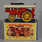 Lesney Matchbox Yesteryear Y9 Fowler Showman's Engine, Red. MIB