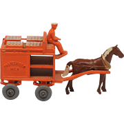 Lesney Matchbox 7A Horse-drawn Milk Cart GPW 1954 Diecast Model