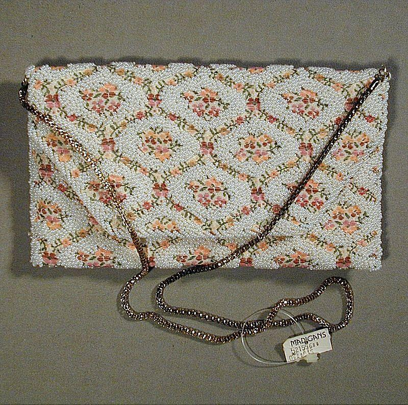 Vintage Handmade Beaded Embroidered REGALE Handbag Purse