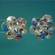 Dazzling Vintage VENDOME AB Crystal Clip Earrings