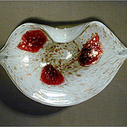 Mid-Century Fratelli Toso Murano Glass Bowl Dish