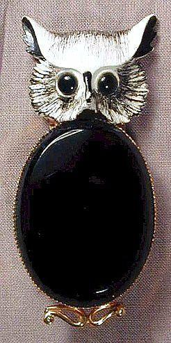 Vintage ORIGINAL BY ROBERT Jelly Belly Owl Pin Brooch