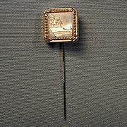 Antique Victorian Gold-Filled Stick Pin Nautical Lighthouse