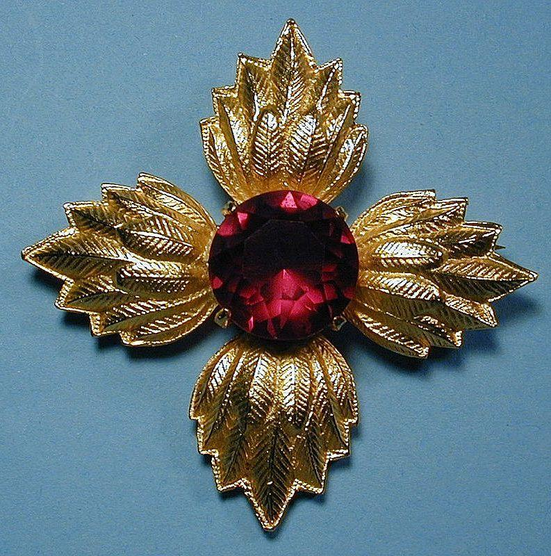 Vintage VAN S. AUTHENTICS Maltese Cross Pin Pendant