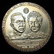 1971 Sterling Silver Medallion Japan - Britain Commemorative 2+ Oz.