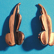 1950s Modernist RENOIR Copper Earrings