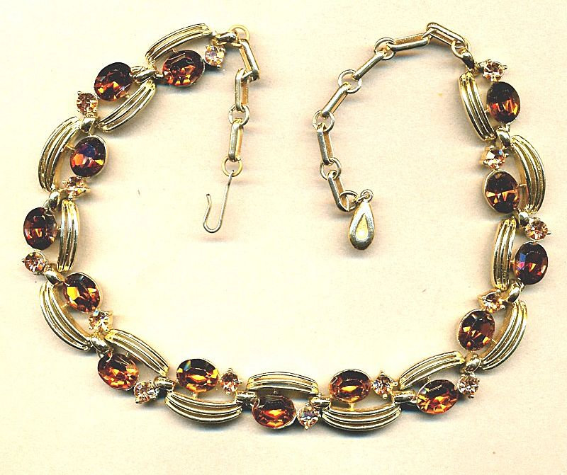 Vintage 1950s LISNER Rhinestone Necklace - A Nice One from ...