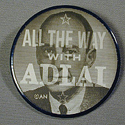 1950s ADLAI STEVENSON Political Campaign Flicker Pin