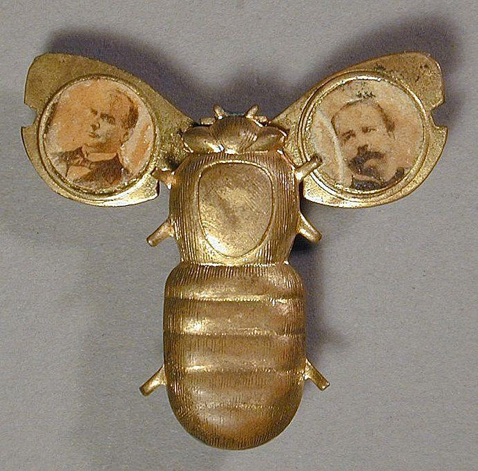 1896 McKinley - Hobart Gold Bug Mechanical Campaign Pin