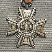 Sterling Silver Conspicuous Service Medal New York State Honor