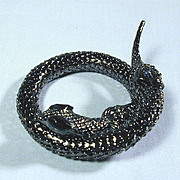 Vintage Black Mesh Snake Wraparound Bracelet