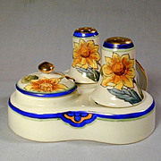 Vintage NORITAKE Hand-Painted Condiment Salt Pepper Set Sunflowers