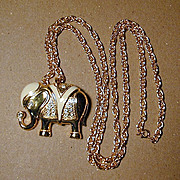 A Great ELEPHANT Pin - Pendant by Kenneth J. Lane KJL - Book Piece