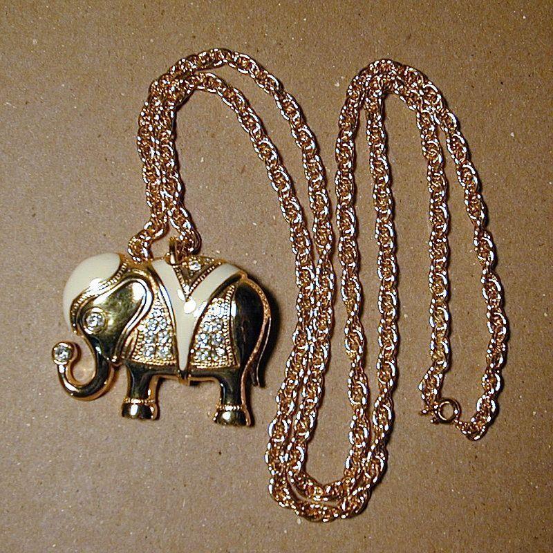 A Great ELEPHANT Pin - Pendant by Kenneth J. Lane KJL - Book Piece