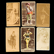 Lot of 6 Victorian SWEET CAPORAL Cigarettes Theater Star Photo Cards