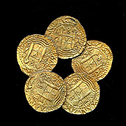 Hattie Carnegie Big Ancient Coins Pin Brooch