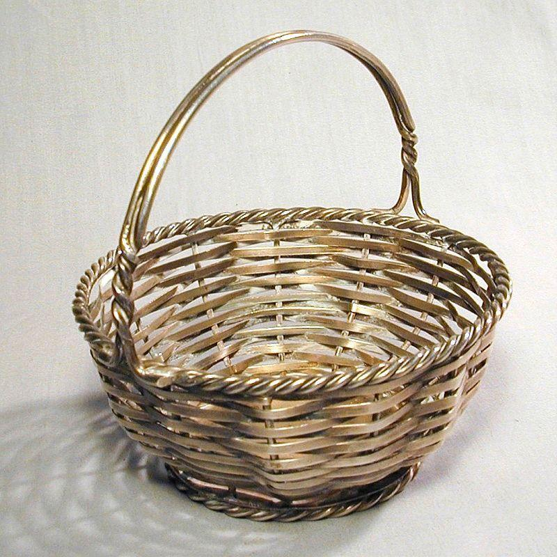 A Tisket-A Tasket - The Finest Silver Basket - Woven Coin Silver