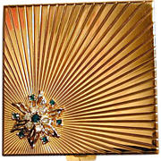 Jeweled VOLUPTE Rhinestone Mirrored Compact Case