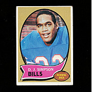 1970 O.J. SIMPSON Topps Rookie Football Card #90