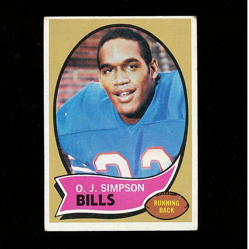 1970 O.J. SIMPSON Topps Rookie Football Card #90