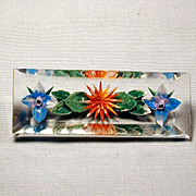 Reversed-Carved Lucite Flower Pin - A Retro Floral Delight