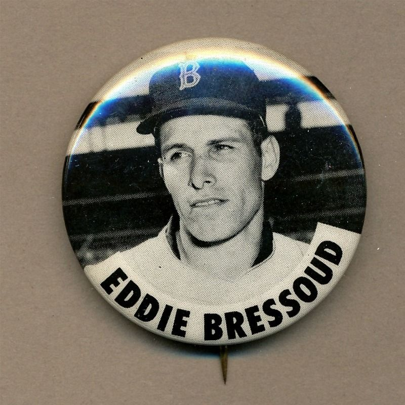 Orig. 1962 EDDIE BRESSOUD - Boston Red Sox Baseball Pin