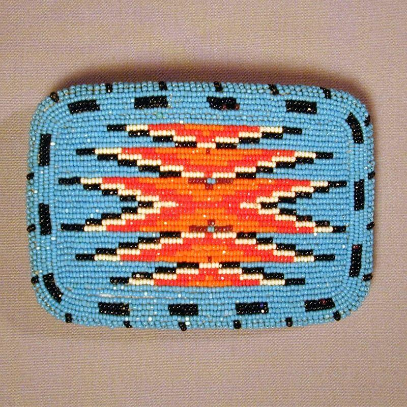 Big SHOSHONE Native American Beaded Belt Buckle
