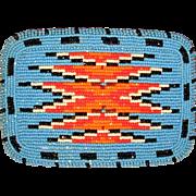 Big SHOSHONE Native American Beaded Belt Buckle