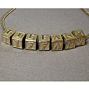 Is Your Name TIFFANY? - Sterling Silver Letter Blocks Necklace