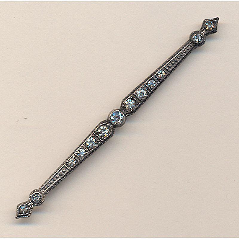 Art Deco Sterling Silver DIAMONBAR Bar Pin 1920s