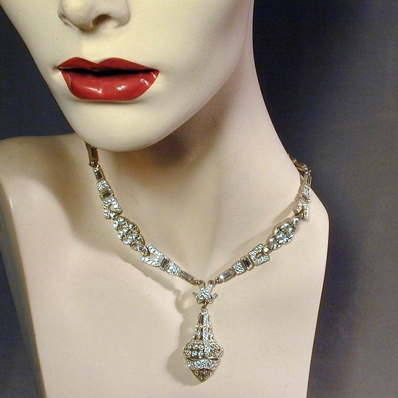 Vintage TARA Rhinestone Necklace Fit For a Queen, Bride, Star