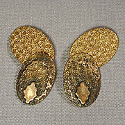 Old Victorian K & F Gold-Filled Cufflinks - Two Ornate Sides