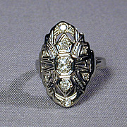 1920s Art Deco 18K Gold & Diamond Ring for a 'Cinderella'